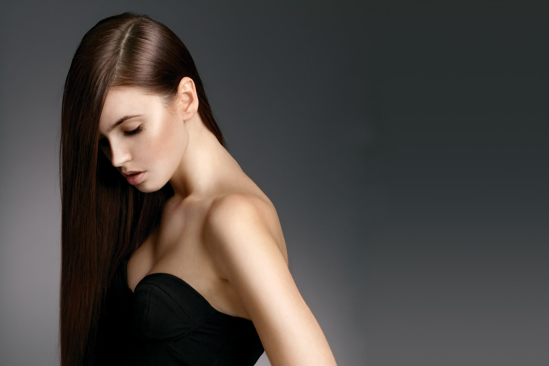 hair with keratin treatment